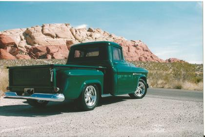 Back View of a Late 1955 Chevy Truck