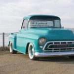 Teal 1957 Chevy Big Window