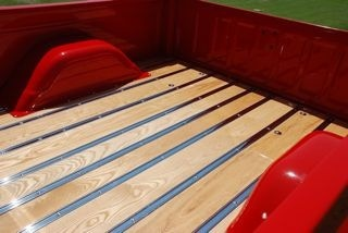Wood Bed Floor in a 1972 Chevy Truck