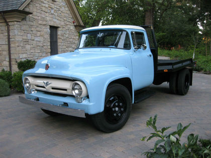 Baby Blue 1956 Ford F600 Still Working on 1947 ford truck