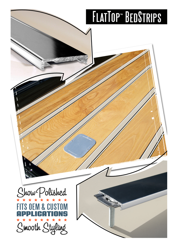 BedWood and Parts Flat Top Bed Strips