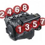 SBC - Small Block Chevy Engine Firing Order Cylinder Arrangement