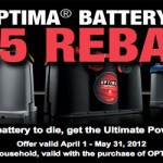 $25 Optima Batteries Rebate