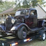 1936 Chevy Truck on Trailer