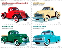 USPS classic truck stamps