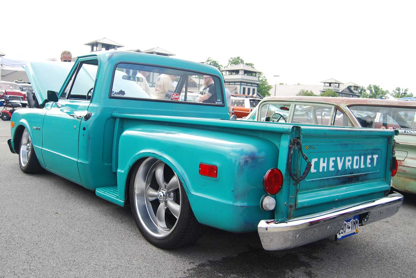 Patinad 1971 Chevy In Mo Fun Green 1955 Ford F100 Step Bed 71 Short