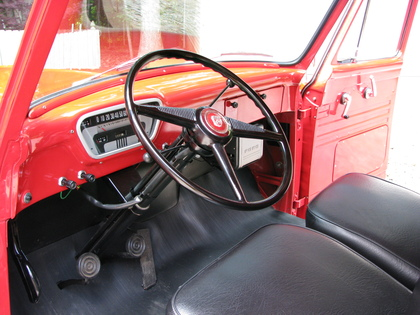 Inside of a 1953 F100 Panel Truck