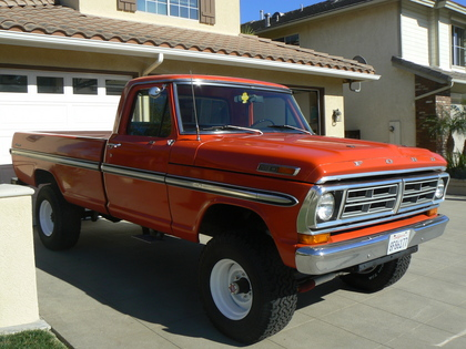 1972 Ford F250 4x4 on 1971 chevy truck 4x4