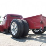 This truck was the hit of the show for me! 1954 International with rear Semi Tires, 460 BBF and custom suspension!