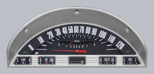 Classic Instruments 1956 Ford F100 Gauge Cluster FT56BT-GREY