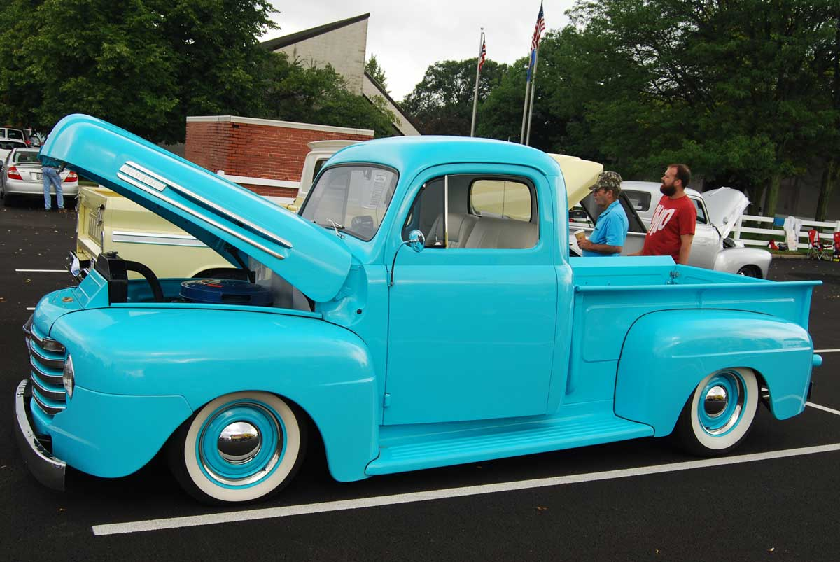 1950 Ford F1 Hood Up