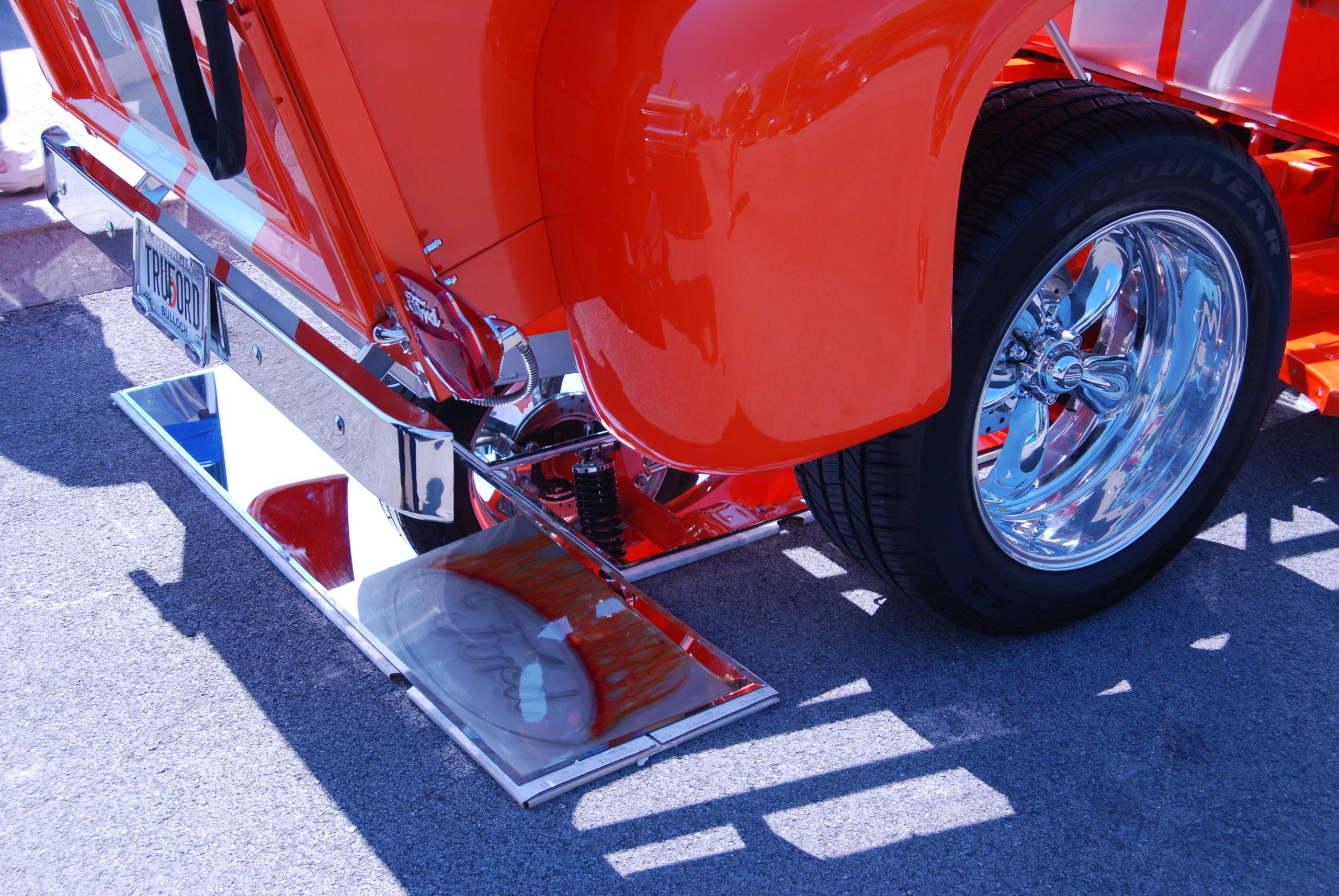 Orange 1956 Ford F100